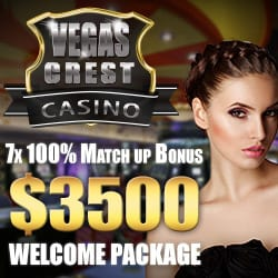 Vegas Crest Casino Bonuses & Reviews